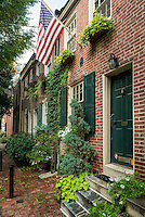 Townhouse, Jessup Street, Old City, Philadelphia, Pennsylvania, USA