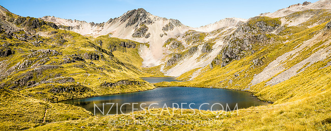 Morning at pristine Hinapouri Tarns, Nelson Lake National Park, South Island, New Zealand, NZ