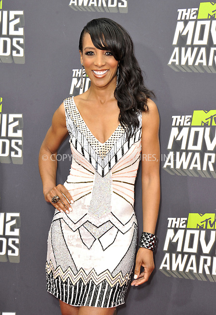 WWW.ACEPIXS.COM....April 14, 2013, Los Angeles, Ca.......Shaun Robinson arriving at the 2013 MTV Movie Awards at Sony Pictures Studios on April 14, 2013 in Culver City, California.......By Line: Peter West/ACE Pictures....ACE Pictures, Inc..Tel: 646 769 0430..Email: info@acepixs.com