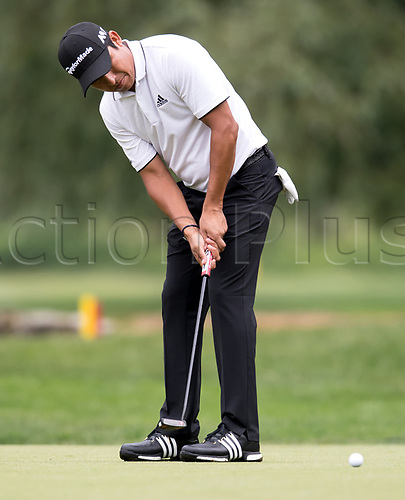 25th June 2017, Golf, Moosinning, Germany;  Argentinian  Andres Romero in action in the men's singles 4th round at the International Open European Tour in Moosinning, Germany, 25 June 2017.