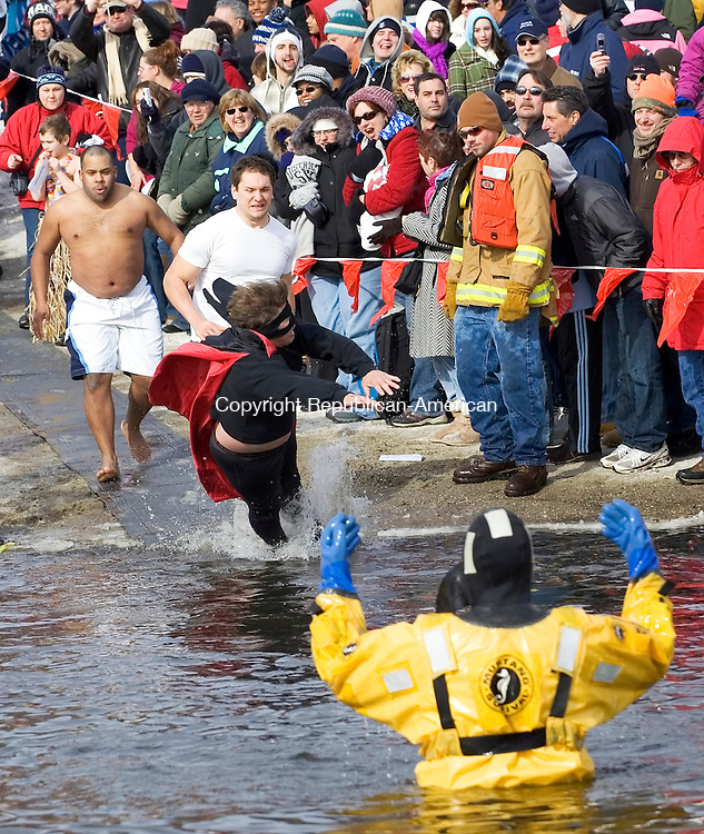 Winsted, CT-30, January 2010-012710CM10 The 7th annual Penguin Plunge was held Saturday morning at Highland Lake in Winsted.   More then twenty teams braved the frigid weather participated in the event which raised money for the Special Olympics.        --Christopher Massa Republican-American