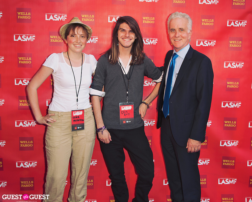 Elina Mushinskaye, Chris Ewing, and Paul Krekorian attend the LA Student Media Fest.