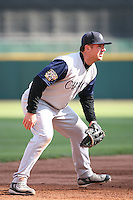May 5th 2008:  Third baseman Josh Fields of the Charlotte Knights, Class-AAA affiliate of the Chicago White Sox, during a game at Dunn Tire Park in Buffalo, NY.  Photo by Mike Janes/Four Seam Images