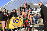Oliviero Troia (ITA) UAE Team Emirates at sign on for the 115th edition of the Paris-Roubaix 2017 race running 257km Compiegne to Roubaix, France. 9th April 2017.<br /> Picture: Eoin Clarke | Cyclefile<br /> <br /> <br /> All photos usage must carry mandatory copyright credit (&copy; Cyclefile | Eoin Clarke)