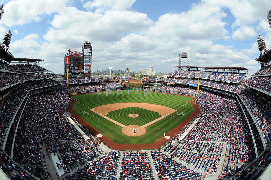 An overall view of Citizen's Bank Park in Philadelphia, during a game between the Philadelphia Phillies and the Milwaukee Brewers on April 23, 2009. (AP Photo/Chris Bernacchi)