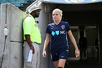 Cary, North Carolina  - Saturday August 19, 2017: Denise O'Sullivan prior to a regular season National Women's Soccer League (NWSL) match between the North Carolina Courage and the Washington Spirit at Sahlen's Stadium at WakeMed Soccer Park. North Carolina won the game 2-0.