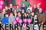 The family of the late Bredan O'Leary who released ballons and held a remembrance night in his honor to raise funds for Lollipop day and to create awearness for people dealing with Oesophageal Cancer in the Village Inn Kilcumminon Saturday nightCiaran and Noreen Nagle, Una O'Leary, Sinead Nagle, Teresa Bruton, Aoife O'Leary. Back row: Joanne Looney, Kathleen Divane, Paudie Kissane, Ciara Nagle, Julie Looney, Sarah Nagle, Patsy O'Leary, Shauna Looney, Kathleen, Kay, John and Dave O'Leary
