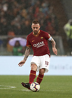Football, Serie A: AS Roma - Parma, Olympic stadium, Rome, May 26, 2019. <br /> Roma's captain Daniele De Rossi in action during the Italian Serie A football match between Roma and Parma at Olympic stadium in Rome, on May 26, 2019.<br /> UPDATE IMAGES PRESS/Isabella Bonotto