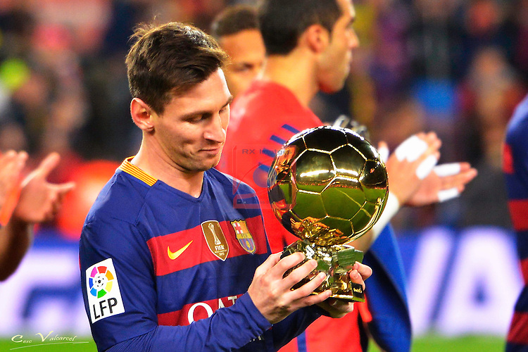 League BBVA 2015/2016 -Game: 20.<br /> FC Barcelona vs Athletic Club: 6-0.<br /> Lionel Messi.