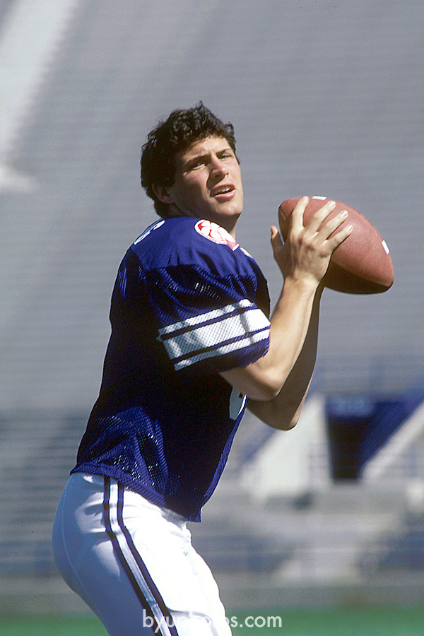 JUN 83-P9<br /> <br /> 8 Steve Young. <br /> <br /> June 1983<br /> <br /> Photo by Mark Philbrick/BYU<br /> <br /> &copy; BYU PHOTO 2009<br /> All Rights Reserved<br /> photo@byu.edu  (801)422-7322