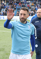Stephen Dobbie before the SPFL Ladbrokes Championship football match between Queen of the South and Partick Thistle at Palmerston Park, Dumfries on  4.5.19.