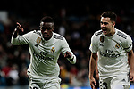 Real Madrid's Vinicius Jr. celebrates goal during Copa Del Rey match between Real Madrid and CD Leganes at Santiago Bernabeu Stadium in Madrid, Spain. January 09, 2019. (ALTERPHOTOS/A. Perez Meca)