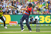 10th February 2018, Melbourne Cricket Ground, Melbourne, Australia; International Twenty20 Cricket, Australia versus England;  Dawid Malan of England in batting action