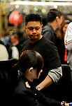 Bihn Nguyen looks disgusted when he sees his opponent make his flush.