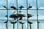 SEATTLE, WA - 1999: A reflection of the Space Needle on a building across the street in 1999 in Seattle, Washington (Photo By Donald Miralle)
