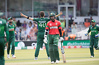 Shaheen Afridi (Pakistan) celebrates the wicket of Das during Pakistan vs Bangladesh, ICC World Cup Cricket at Lord's Cricket Ground on 5th July 2019