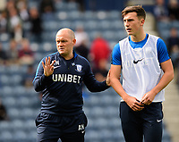 Preston North End manager Alex Neil, left, with Preston North End's Josh Earl during the pre-match warm-up<br /> <br /> Photographer Chris Vaughan/CameraSport<br /> <br /> The EFL Sky Bet Championship - Preston North End v Reading - Saturday 15th September 2018 - Deepdale - Preston<br /> <br /> World Copyright &copy; 2018 CameraSport. All rights reserved. 43 Linden Ave. Countesthorpe. Leicester. England. LE8 5PG - Tel: +44 (0) 116 277 4147 - admin@camerasport.com - www.camerasport.com