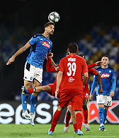 5th November 2019; Stadio San Paolo, Naples, Campania, Italy; UEFA Champions League Group Stage Football, Napoli versus Red Bull Salzburg; Fernando Llorente  of Napoli climbs to get his header on goal  - Editorial Use