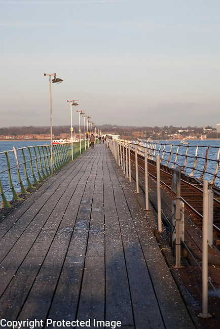 Pier in Hythe in Southampton, England, UK