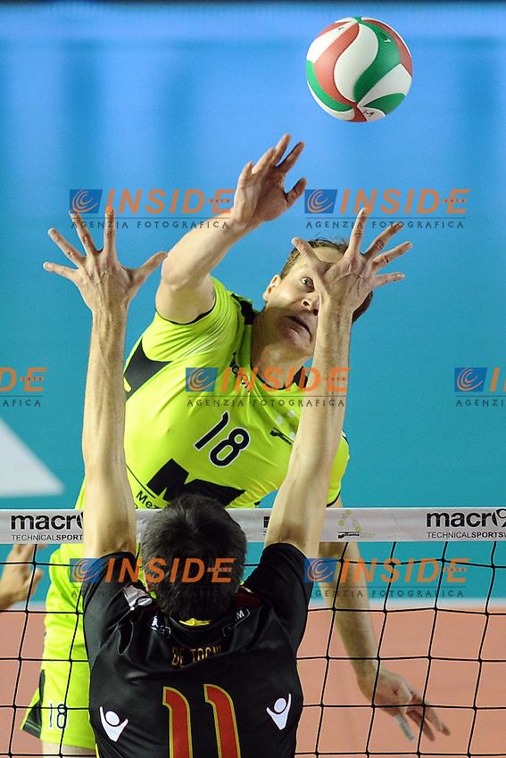 Novica Bjelica (MRoma).MRoma Volley vs Sisley Belluno .Campionato di Pallavolo Serie A1.PalaTiziano, Roma, 23/10/2011.Photo Antonietta Baldassarre