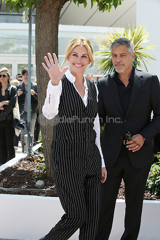 George Clooney and Julia Roberts at 'Money Men' photocall during the 69th International Cannes Film Festival, France<br /> May 12, 2016<br /> CAP/GOL<br /> &copy;GOL/Capital Pictures /MediaPunch ***NORTH AMERICA AND SOUTH AMERICA ONLY***