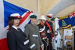 Landguard Fort, Felixstowe, Suffolk, England, UK Royal Marines uniforms