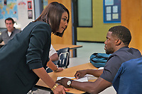 Night School (2018) <br /> TIFFANY HADDISH and KEVIN HART<br /> *Filmstill - Editorial Use Only*<br /> CAP/FB<br /> Image supplied by Capital Pictures