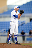Dunedin Blue Jays pitcher Scott Copeland (31) during a game against the Fort Myers Miracle on July 20, 2013 at Florida Auto Exchange Stadium in Dunedin, Florida.  Fort Myers defeated Dunedin 3-1.  (Mike Janes/Four Seam Images)