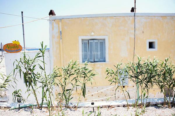 A restaurant at Akrotiri near the Red Beach in Santorini, Greece on July 7, 2013.