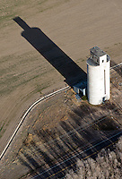 Silo with long shadow. Granada, Colorado.  April 2013.  84802