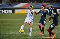 Lorient, France. - Sunday, February 8, 2015: Lauren Holiday (12) of the USWNT. USWNT vs France during an international friendly at the Stade du Moustoir.