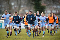 The Rotherham Titans team. Greene King IPA Championship match, between Rotherham Titans and Bedford Blues on January 17, 2018 at Clifton Lane in Rotherham, England. Photo by: Patrick Khachfe / Onside Images