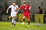 Jaimes Anthony Mckee of Hong Kong (R) fights for the ball with Mother Abu Amara of Jordan (L) during the International Friendly match between Hong Kong and Jordan at Mongkok Stadium on June 7, 2017 in Hong Kong, China. Photo by Cris Wong / Power Sport Images