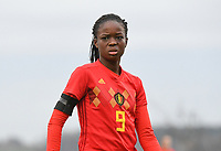 20181205 - TUBIZE , BELGIUM : Belgian Mam Beny Bangoura pictured during the friendly female soccer match between Women under 15 teams of  Belgium and Gemany , in Tubize , Belgium . Wednesday 5 th December 2018 . PHOTO SPORTPIX.BE / DIRK VUYLSTEKE