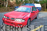 The car which was found dumped on the Killarney to Ladies View road on Monday.