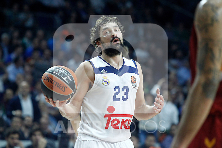 Real Madrid's Sergio Llull during Euroleague, Regular Season, Round 5 match. November 3, 2016. (ALTERPHOTOS/Acero)