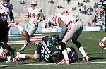DENTON, TX  JANUARY 1:  Antoinne Jimmerson #22 of the North Texas Mean Green dives in to the end zone but comes up short against the UNLV defense during the Heart of Dallas Bowl at Cotton Bowl Stadium in Dallas on January 1, 2014 in Dallas, TX.  Photo by Rick Yeatts North Texas won 36-14 over UNLV.