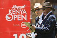 Starters chat on 10th tee during the second round of the Magical Kenya Open, Karen Country Club, Nairobi, Kenya. 15/03/2019<br /> Picture: Golffile | Phil Inglis<br /> <br /> <br /> All photo usage must carry mandatory copyright credit (&copy; Golffile | Phil Inglis)