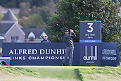 2nd October 2017, The Old Course, St Andrews, Scotland; Alfred Dunhill Links Championship golf practice round; Ireland's Padraig Harrington tees off on the third hole of the Old Course, St Andrews, during a practice round before the Alfred Dunhill Links Championship