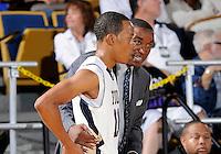 Florida International University Head Coach Isiah Thomas during the game against Coastal Carolina University.  FIU won the game 64-62 on November 26, 2011 at Miami, Florida. .