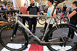 Saffron Frameworks stand at Bespoked 2018 UK handmade bicycle show held at Brunel's Old Station & Engine Shed, Bristol, England. 21st April 2018.<br /> Picture: Eoin Clarke | Cyclefile<br /> <br /> <br /> All photos usage must carry mandatory copyright credit (© Cyclefile | Eoin Clarke)