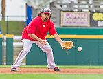 7 March 2015: Washington Nationals third baseman Anthony Rendon warms up prior to a Spring Training game against the St. Louis Cardinals at Space Coast Stadium in Viera, Florida. The Nationals rallied to defeat the Cardinals 6-5 in Grapefruit League play. Mandatory Credit: Ed Wolfstein Photo *** RAW (NEF) Image File Available ***