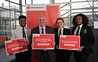 L-R Rafael Fernandez from the Cardiff Youth Council, Paul Davies AM, Lauren Thomas and Sherry Gakumga both from the Cardiff Youth Council