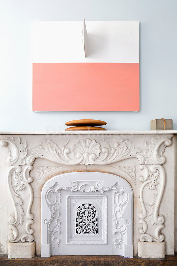 carved marble mantel