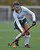 Carle Place No. 1 Alexis Ruiz moves the ball downfield during the Nassau County varsity field hockey Class C final against Oyster Bay at Adelphi University on Sunday, November 1, 2015. She scored one goal in Carle Place's 5-0 win.<br /> <br /> James Escher