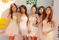 LOS ANGELES, CA - MARCH 31: Wonder Girls arrive at the 2012 Nickelodeon Kids' Choice Awards at Galen Center on March 31, 2012 in Los Angeles, California.