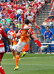 FC Dallas forward Kenny Cooper (33) in action during the game between the FC Dallas and the Houston Dynamo at the FC Dallas Stadium in Frisco,Texas.