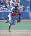 Cincinnati Reds Dave Concepcion (13) during a game from his career. Dave Concepcion for 19 years all with Reds and was a 9-time All-Star.<br /> (David Durochik/SportPics)(David Durochik/SportPics)