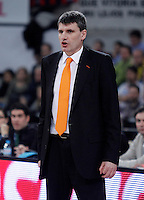 Valencia Basket Club's coach Velimir Perasovic during Spanish Basketball King's Cup semifinal match.February 07,2013. (ALTERPHOTOS/Acero) /NortePhoto