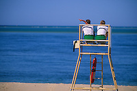 Europe/France/Aquitaine/33/Gironde/Bassin d'Arcachon/Arcachon/Pilat-Plage: Plage du Petit Nice - Maitres nageurs